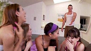 Party teen swaps jizz