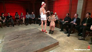 Amateur Model Disgraced At The Armory - PublicDisgrace