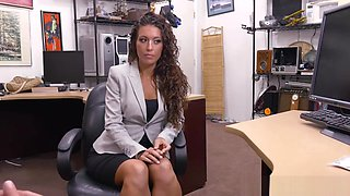 Lucky Pawn Shop Boss Fucks Perfect Latina Milf For Cash Deal