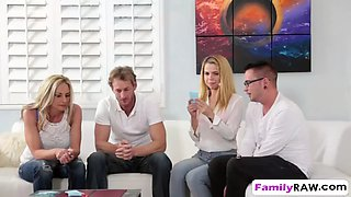 game night leads to foursome with alina west and stepmom