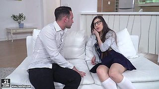 Turkish babe Anya Krey takes a thick dick in her anal hole for the first time