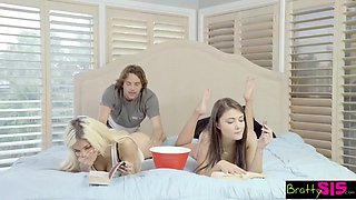 bratty sis- elizabeth jolie & adria rae - step sister throws me a bone