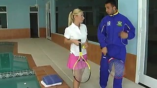 Sexy Tennis Babe Gets Pounded By Her Instructor