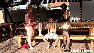 Mature SSBBW plowed in threesome