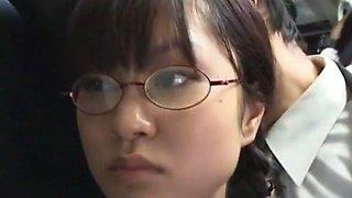 Horny Japanese model Mizuki Akiyama, Hina Umehara, Anna Mutsumi in Amazing Bus JAV video