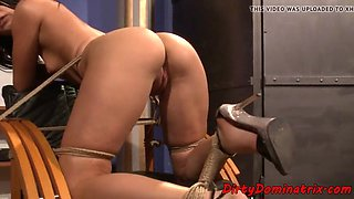 Smalltits slave spanked and dominated