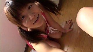 Subtitled Japanese naive schoolgirl CFNM handjob and more