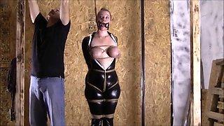 Bondage, suspension and latex girl! Gil877