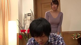 Japanese stepmom cares of son
