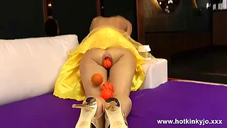 hotkinkyjo - extreme anal ballplay