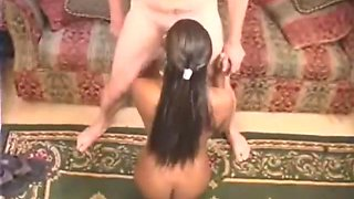 Afro American amateur impregnated