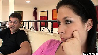 Bratty teenager fucks her babysitter