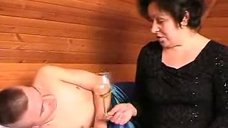 Drunk Russian Aunt Seduces The Youth