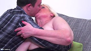 mature bbw mother seduce lucky son