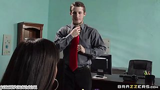 Latin secretary Mercedes Carrera seduced her new boss in the office