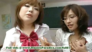 Nao Ayukawa and Rio Hamaski innocent chinese girls enjoy