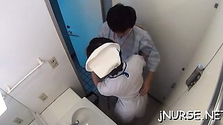 Naked nurse enjoys other woman licking her asian wet crack
