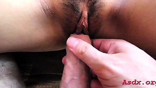 Fresh oriental chick gets fully satisfied