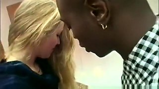 Luscious blonde housewife satisfies her desires with a hung black man