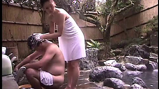 Japanese Cuckold Story In Konyoku Onsen Spa