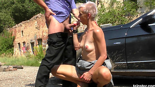 pissinginaction mature blonde bimbo hitchhiker loves his piss