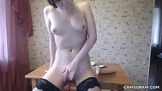homemade sex scene with a horny pierced nipples co-ed