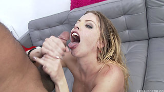 Stunning Britney Amber In Her First 3on1 DP