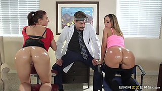 jada stevens and mischa brooks getting their asses fingered by dr. corvus