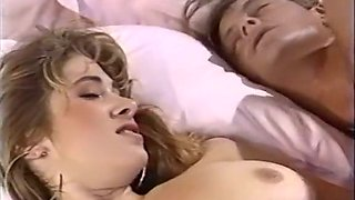 Sweet fine blonde babe with big tits having passionate sex