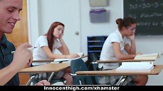 InnocentHigh - Skinny Rebellious Teen Fucked After School