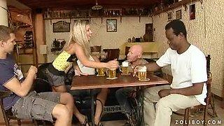 Foxy bartender Bianca