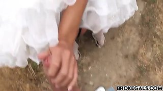 rejected bride bangs stranger