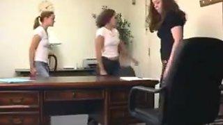 Horny homemade Teens, Spanking sex scene