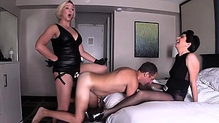 Hot wife femdom pegging and cumshot