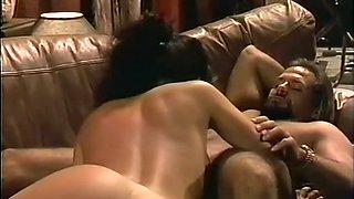 Gorgeous bronze skin brunette gives sensual erotic massage