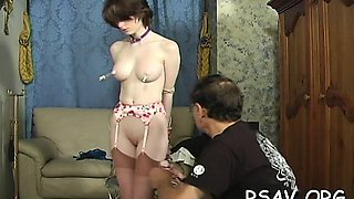Breasty playgirl in brutal s&m action