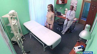 Fake doctor annihilates his luscious redhead patient