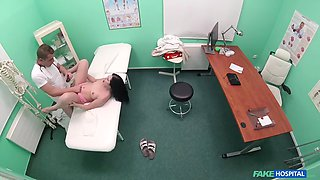 Cassie Fire Doctor fucks shaven Russian pussy