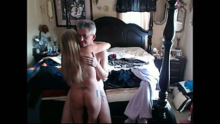 Mature wifey doesn't know about hidden cam in the bedroom