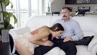 Fantasy sex with her own dad after being a naughty girl