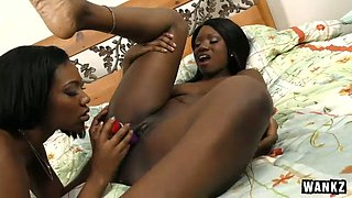 Black lusty chick with pierced nipples Chanell Heart had steamy sex with her African kooky in bed