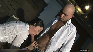 Insatiable brunette Angela Gritti gets a dick up her anus