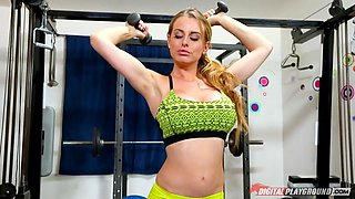 flexible blonde babe corinna blake teases with her hot bod