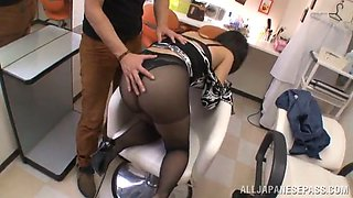 rough sex in the salon with the horny asian babe norika serizaw