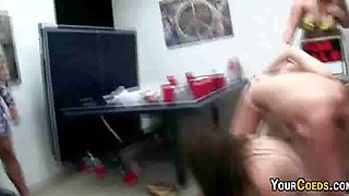 College coeds play twister naked in the dorm room for sexy