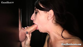 Welcome Kristin to her first ever gloryhole video. She