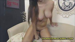 Flexible Big Ass Busty Teen Masturbates