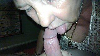 blonde cougar sucking cock