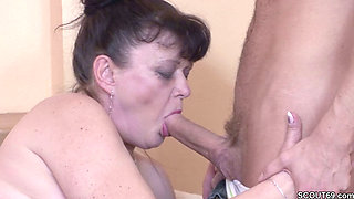 Young Boy Seduces His Grandma to get his First Fuck