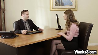 Pretty assistant Alice March fuck with  her boss